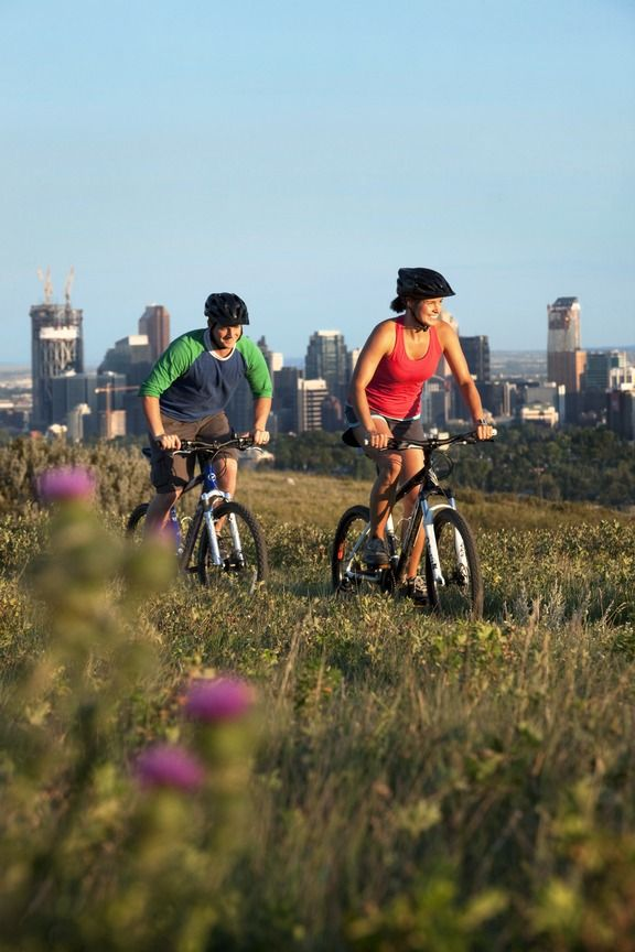 Calgary is filled with bike paths to allow you to take in the city from a different view.