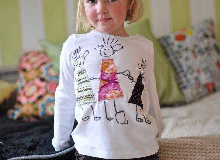 lilla a: T-shirt med applikationerTshirt Crafts, Kids Diy, Med Applikation, Crafts Coops, Kids Fashion, Tshirt Mit, T Shirts Med, Tshirt Med, Diy T Shirts