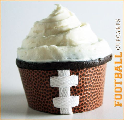 Super Bowl / Football Party Cupcakes