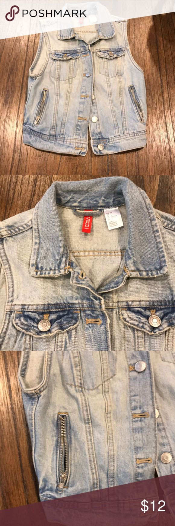 Sleeveless jean jacket Light blue washed worn once H&M Jackets & Coats Vests