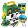 John Deere Party Favor Box -Plant these fun favor boxes in guests' hands and they'll sprout smiles instantly. Each box includes a John Deere notepad*, a John Deere blowout*, a John Deere sticker sheet*, a 5 plush cow, corn squirter, and crayons. Som