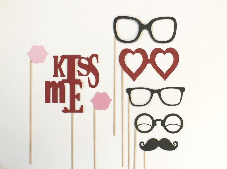 photo booth props   Photo Booth Props. Photobooth Photo Props. Kiss Me. Photo Props. $25 ...