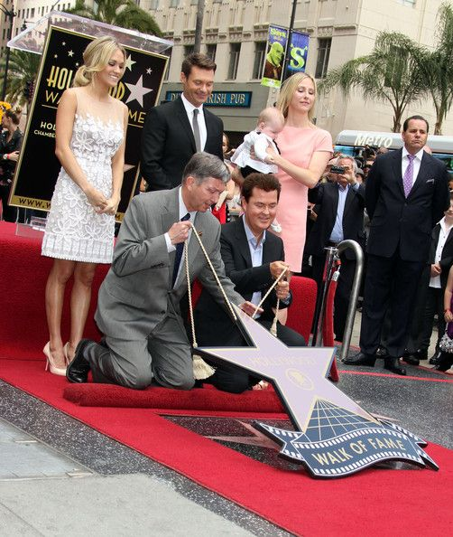 Carrie Underwood and Simon Fuller - Simon Fuller Hollywood Walk Of Fame Ceremony