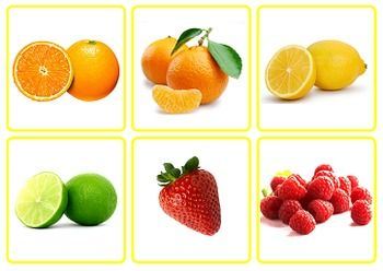 Photo Picture Cards: Fruit & Vegetables