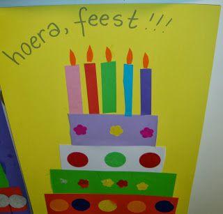 plak een taart als cadeautje voor een jarige