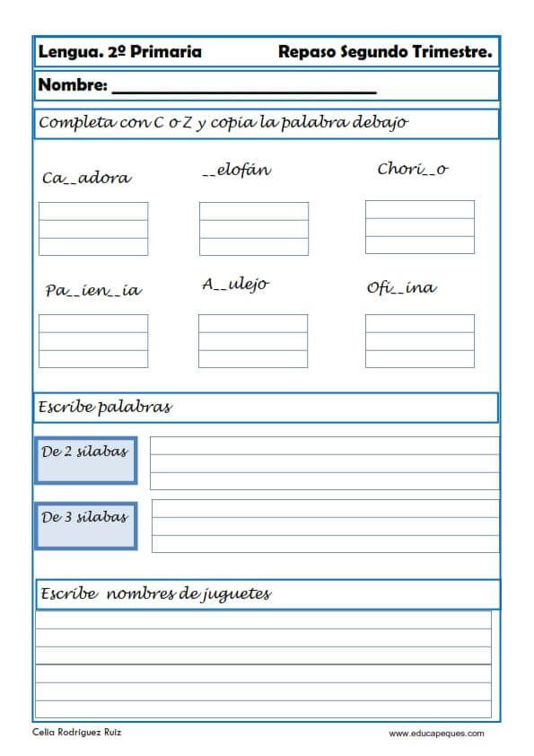 Fichas De Lengua Primaria Carpetas De Escritura Actividades Para Clase De Español Actividades De Ortografía