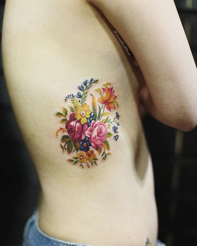 Best 25+ Vintage Floral Tattoos Ideas Only On Pinterest