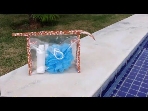 Necessaire Transparente com Ziper - YouTube                                                                                                                                                     Mais