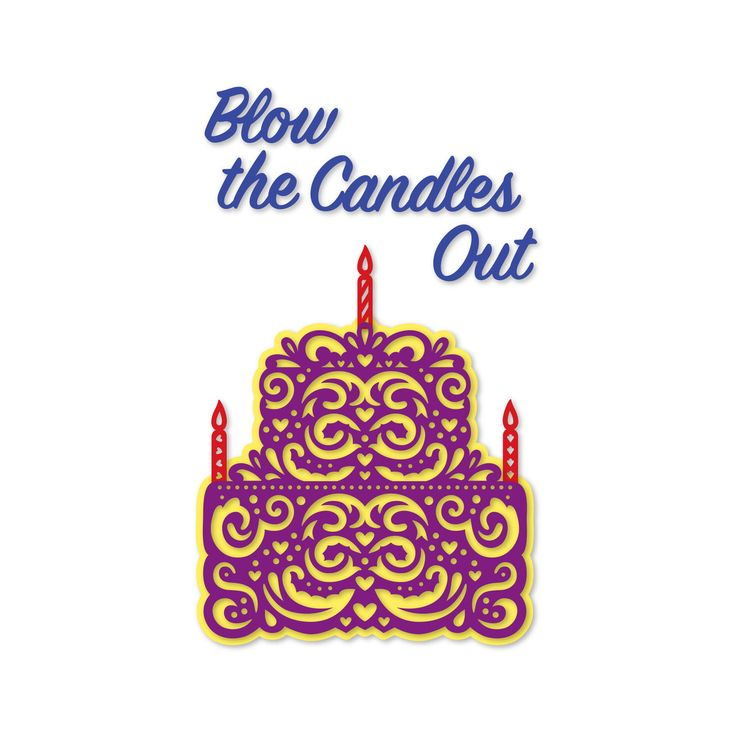 Simply Defined, Blow Out The Candles - Frosting - Scrapbooking Made Simple