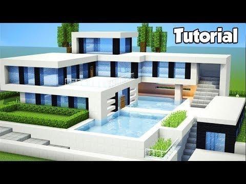 Minecraft Como Construir Um Grande Tutorial De Casa Moderna 19