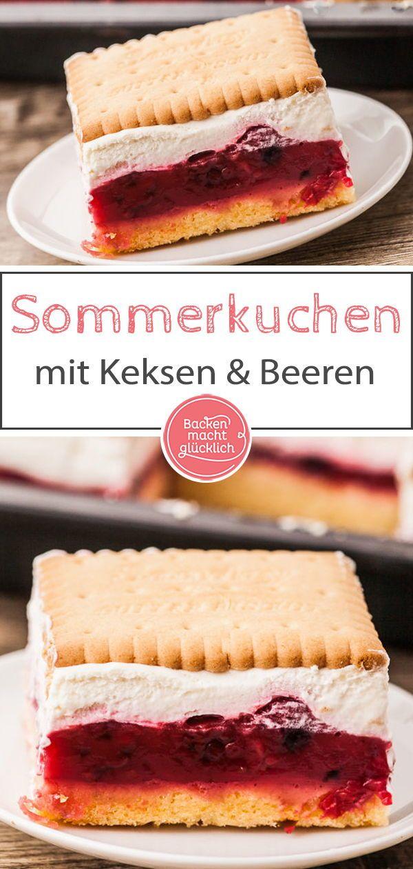 Butterkeks Kuchen Mit Beeren Rezept Arbeit Pinterest