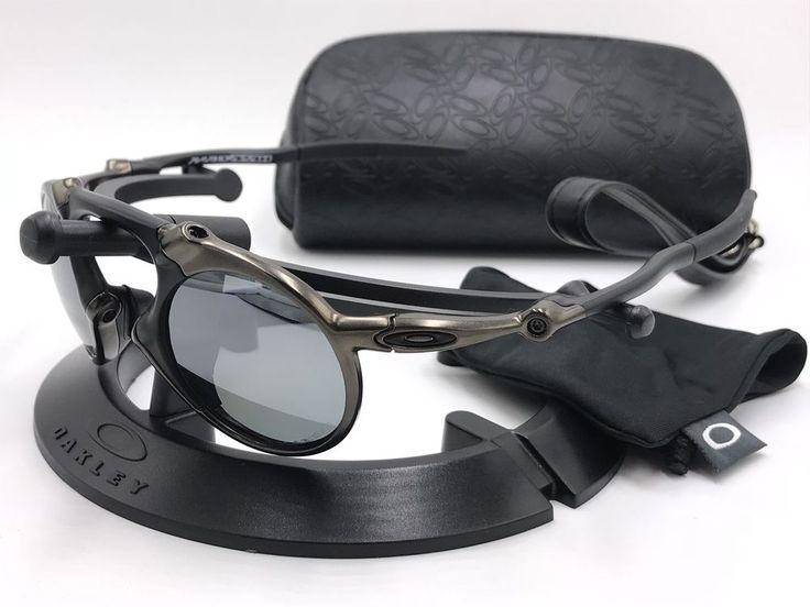 4f3cdcff1d OAKLEY Sunglasses MADMAN OO6019-02 Pewter   Black Iridium POLARIZED  AUTHENTIC