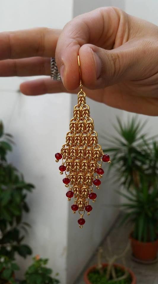 Christmas Earrings Chainmaille Diy Chain Earrings Diy
