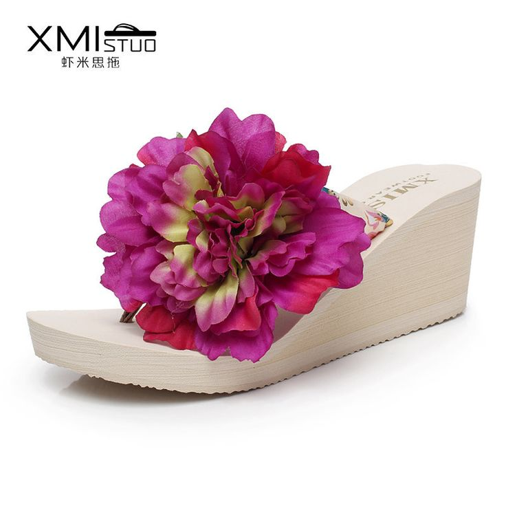 2017 Women's DIY Manual Spend Holiday Beach Sandals Flip-flops Wholesale Travel Cool Sponge with Slippers Slippers Flowers