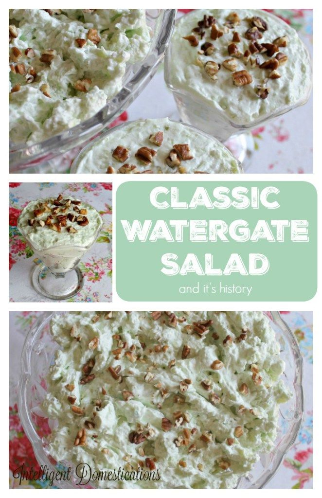 It's called a salad but it's really a dessert. Classic Watergate Salad recipe and it's interesting history.