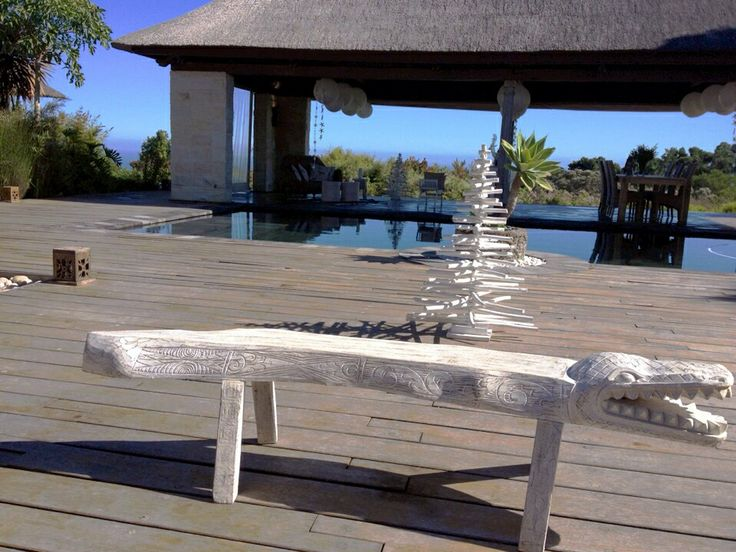 Painted wooden bench - Beach Sands