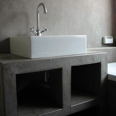 Tadelakt stucwerk in badkamer