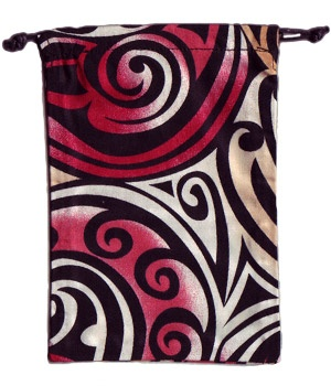 Maori Scrub Surgical Sack for cell phones, glass, change, keys keeping your small stuff together in one little cloth sack