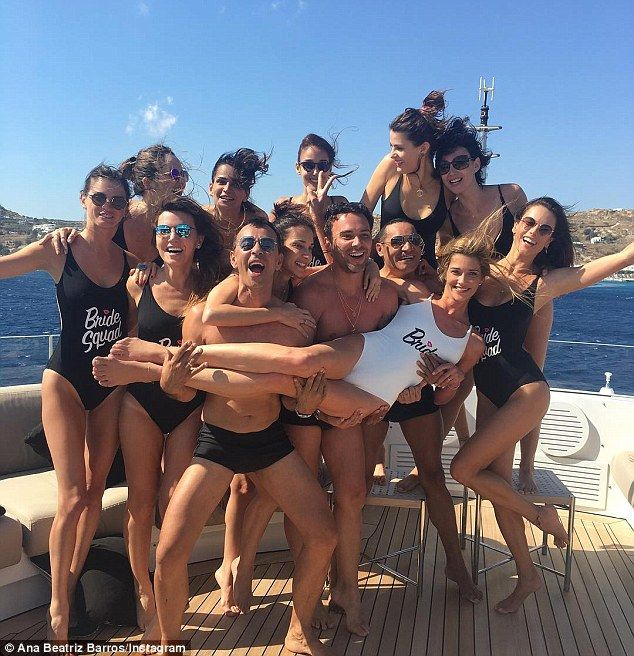 Time to celebrate!Alessandra is enjoying a family holiday on the island of Mykonos for Ana's wedding, with both posting numerous snaps from the bridal celebrations on their respective social media pages