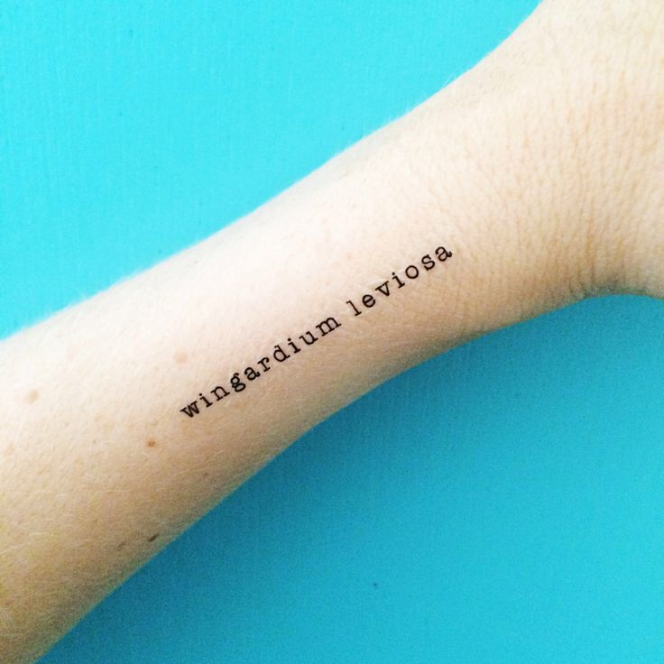 magic spell tattoos harry potter temporary tattoos wingardium leviosa spell tattoo magic tattoos hermione granger quote typewriter tattoos by happytatts on Etsy https://www.etsy.com/transaction/1179459084