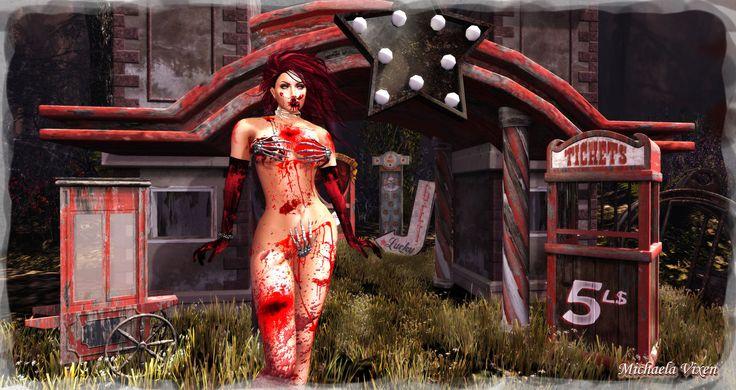 https://flic.kr/p/M9Myi2   Michaela - Bloody Halloween 2016 - Aftermath 1   Bloody Halloween 2016 - Aftermath 1  Location: Vixen's Creative Studios Photographer & Model: Michaela Vixen (VampBait69) Set Design & Creation: Michaela Vixen (VampBait69)  Vixen's Log - More Info & Credits Here