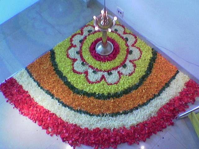 Original Flowers Rangoli Flower Rangoli   by