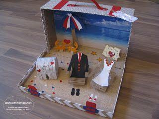Hochzeit Geldgeschenk Koffer Hochzeitsreise Flitterwochen Heiratsantrag