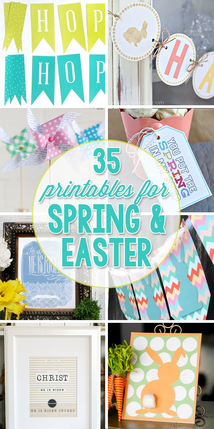 35 Printables for Easter and Spring