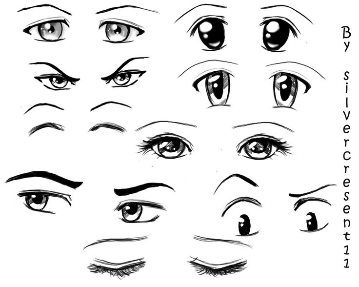 manga eye coloring pages - photo#3