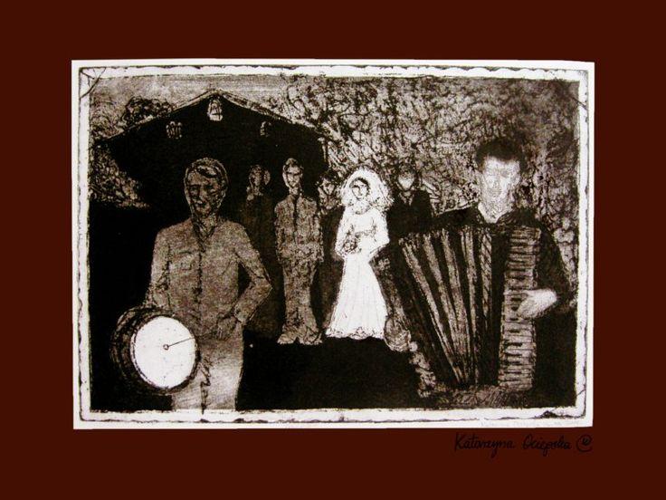 Grajcie! (Keep playing!) akwaforta z akwatintą 2007 #etching #akwaforta #print #printing #druk #drukowanie #uljado