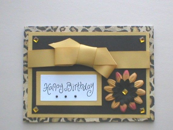 1000 ide tentang Print Birthday Cards di Pinterest – Leopard Print Birthday Card