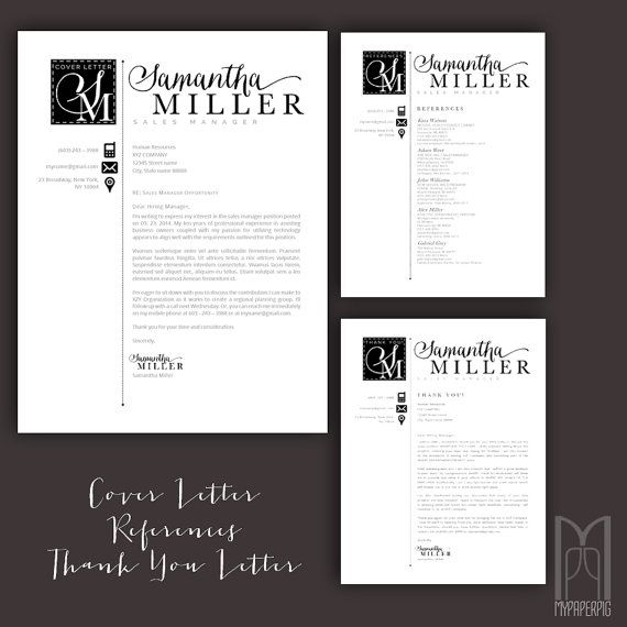 Resume Template And Cover Letter Template | Professional Creative Modern  Resume Template | WORD+Pages | Mac+Pc | DIY Printable 4 Pk | Af