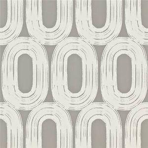 Carta da Parati Grigia ad Ovali 110453 - Loop - Wabi Sabi - Scion ebay decorsupplies
