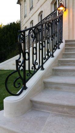 External wrought iron staircase Idea