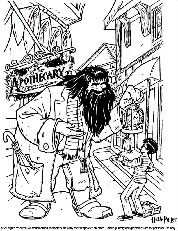 Harry Potter And His Books Harry Potter Books Coloring Pages