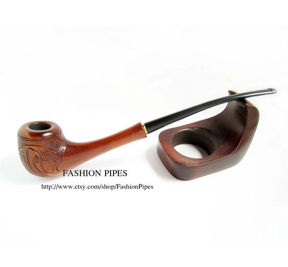 Lady Wooden Tobacco pipe Engraved RIO. Long by FashionPipes