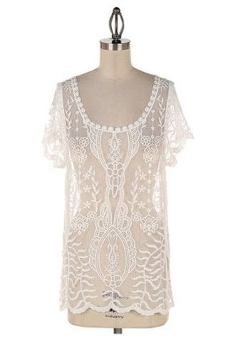 Lace Layering Tee | A-thread
