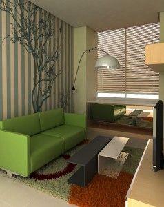Ruang keluarga dengan space yang terbatas tapi tidak mengurangi keindahan dan fungsinya sebagai tempat berkumpul