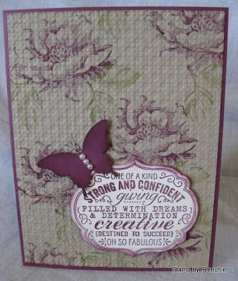 Love the background on this one by Stamp & Scrap with Frenchie!
