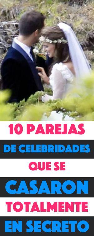 10 Parejas De Celebridades Que Se Casaron Totalmente En Secreto