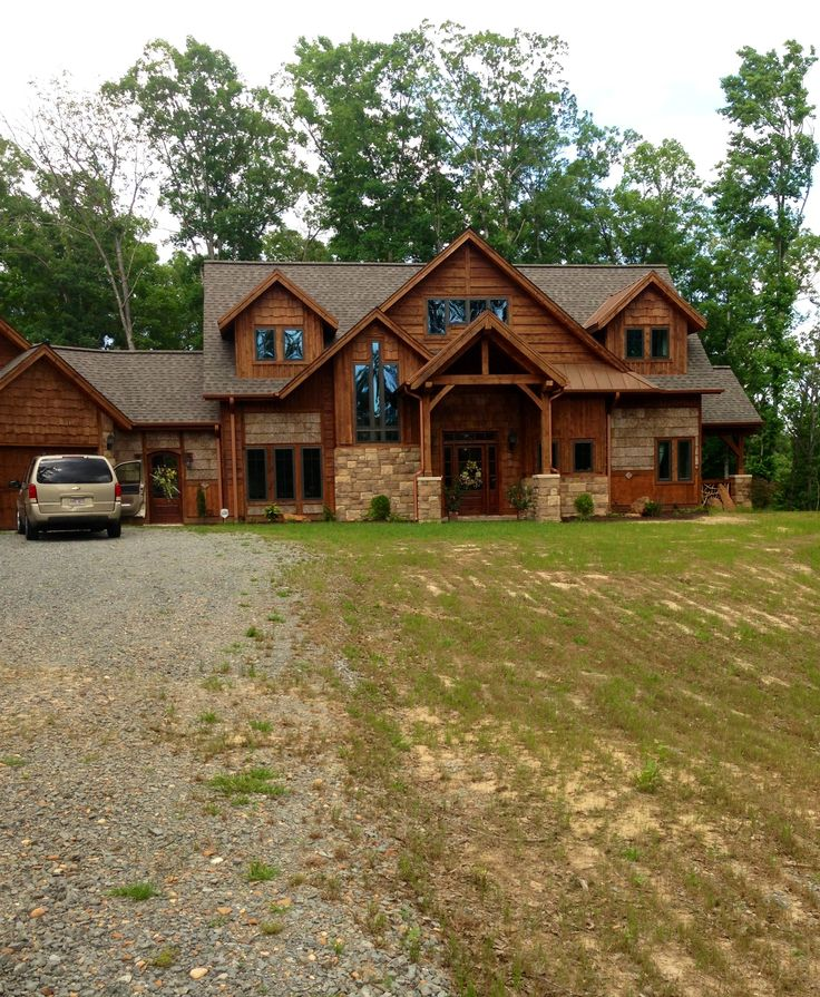 Best 25 stone exterior houses ideas on pinterest house for Stone and log homes