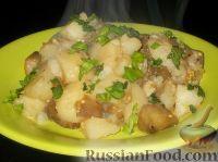 Фото к рецепту: Гарнир из картофеля и баклажанов