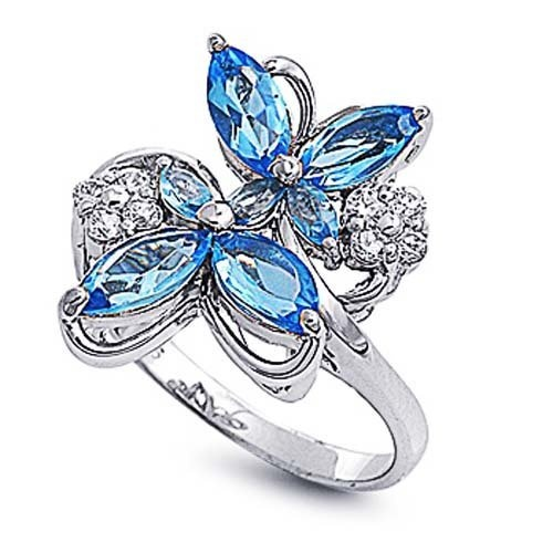 Rhodium Plated Sterling Silver Wedding & Engagement Ring Blue Topaz & Clear CZ Butterfly Ring 19MM ( Size 6 to 10) Double Accent, http://www.amazon.com/dp/B007Q34AEQ/ref=cm_sw_r_pi_dp_yHUsqb1EP6T37