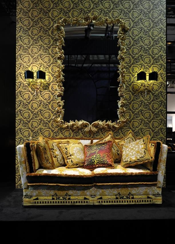 Versace home collection 2013 rococo mirror versace for Wallpaper versace home