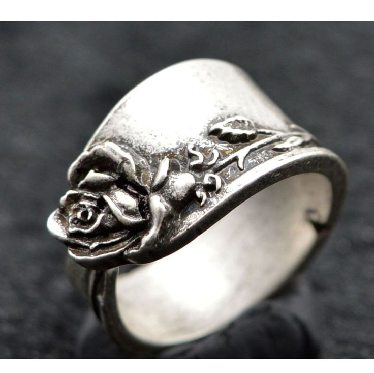 Norse Viking Fashion Mens Jewelry Ring Flower Floral Creative Spoon Ring