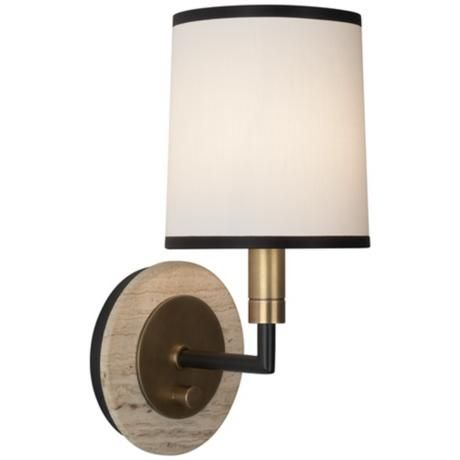 robert abbey axis aged brass wall sconce