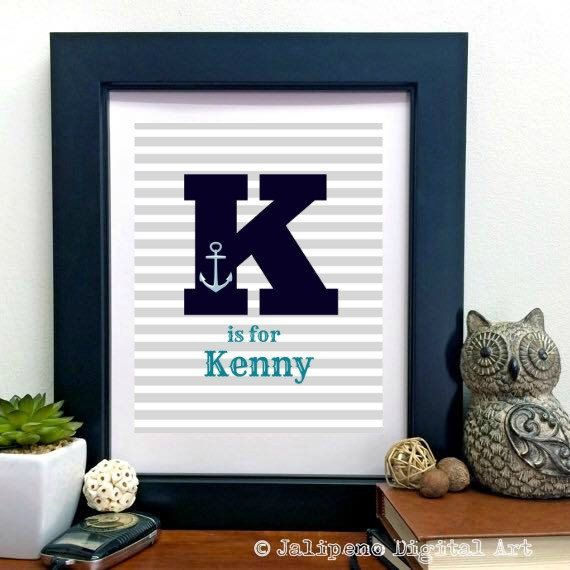 USE COUPON CODE SHOPEARLY20 TO SAVE 20% FROM NOW UNTIL DECEMBER 12TH!  Check out this item in my Etsy shop https://www.etsy.com/ca/listing/235800749/personalized-nautical-nursery-print