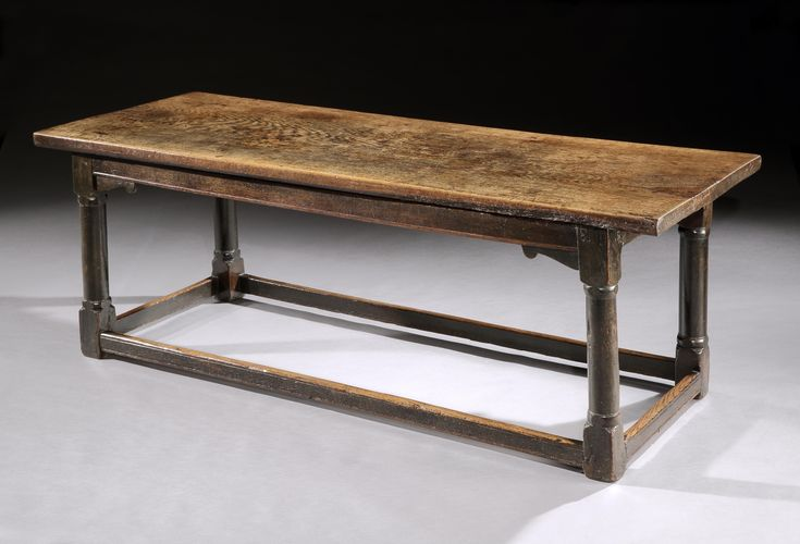 Robert Young Antiques Collection: Remarkable Early Refectory Table. Solid Richly Patinated Oak with Exceptional Honey Colour. English, c.1600-1620
