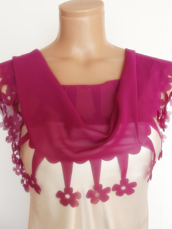 2012 summer fashion scarf new design rose color by smilingpoet, $20.90