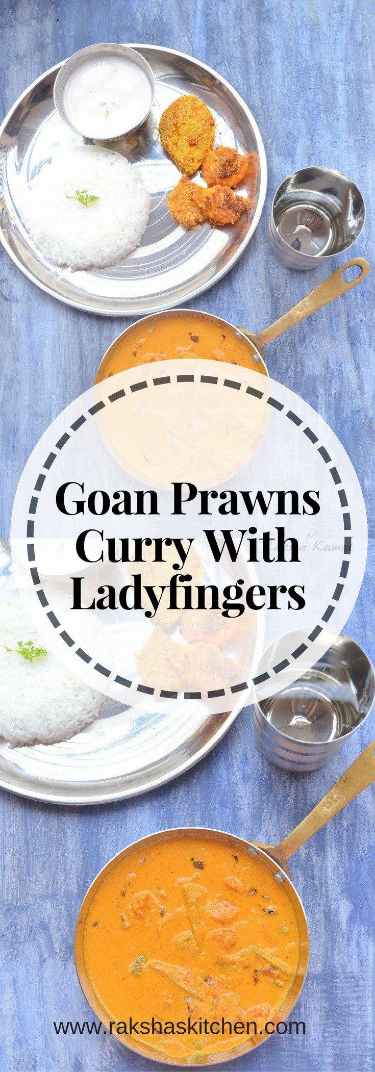 Goan Prawns Curry With Ladyfingers, Goan Prawns Curry